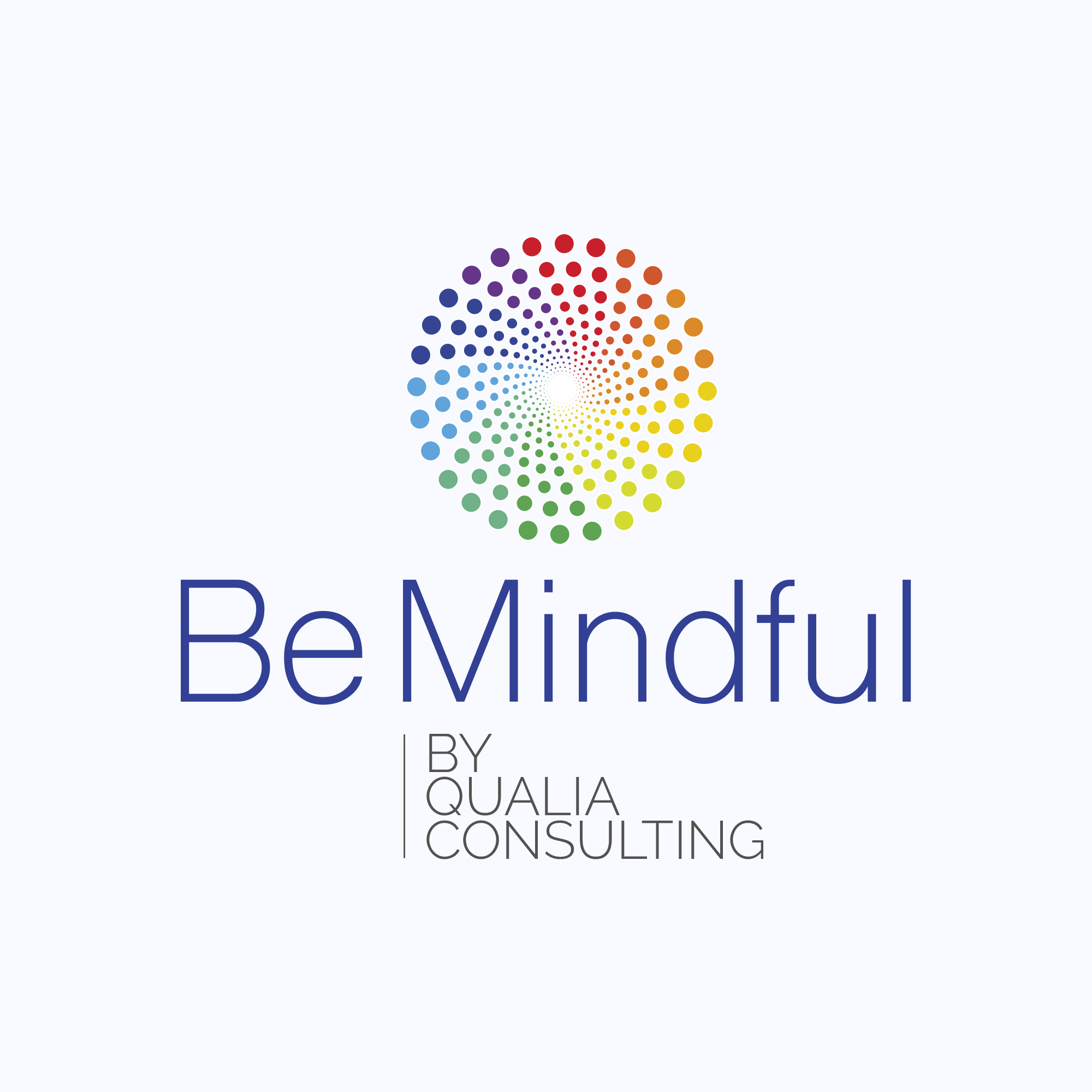 Création du logo Be mindful by Qualia