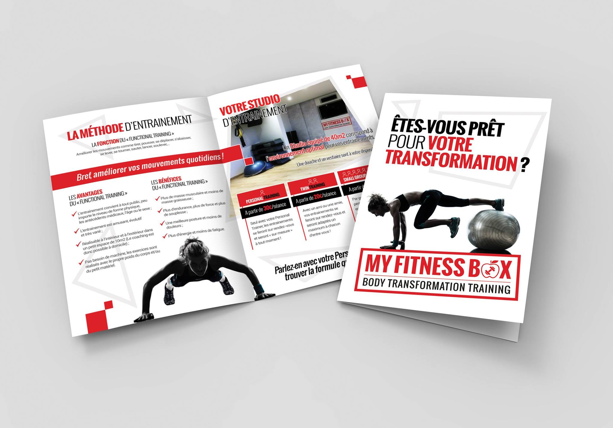 Conception graphique d'une brochure pour My Fitness Box à Moresnet