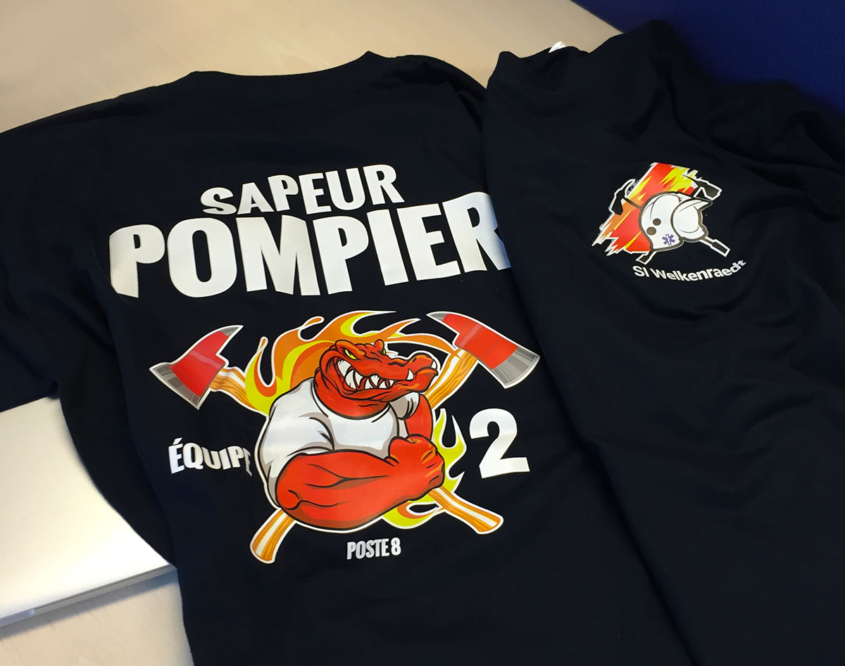 Impression flex sur t-shirt