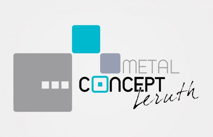 Conception du logo Metal Concept Leruth