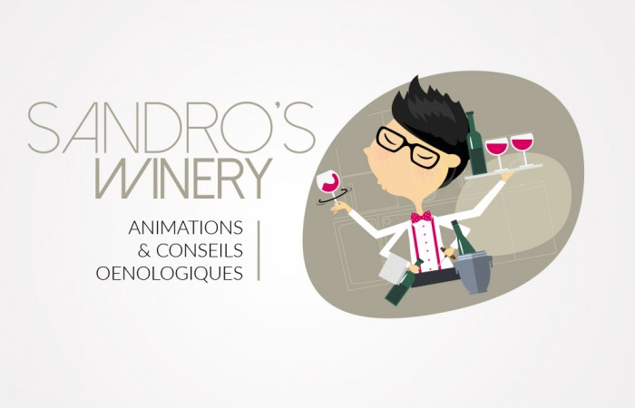 Conception du logo Sandro's Winery