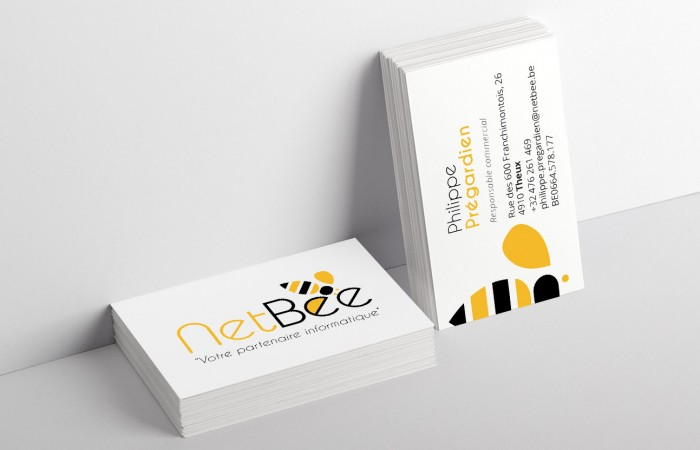 Conception cartes de visite NetBee